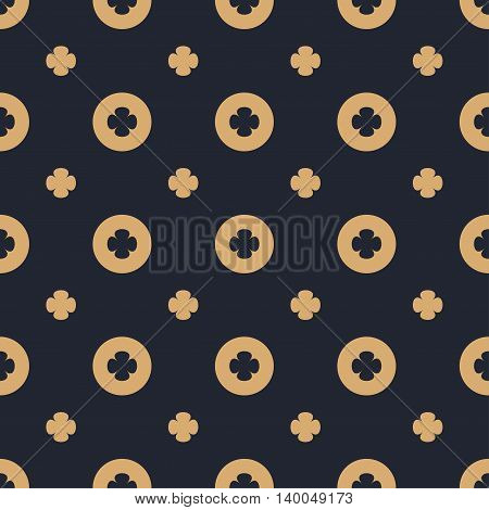 Simple geometric flower seamless pattern. Can be used for web print and book design home decor fashion textile wallpaper.