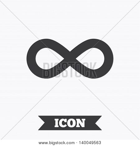 Limitless sign icon. Infinity symbol. Graphic design element. Flat limitless symbol on white background. Vector