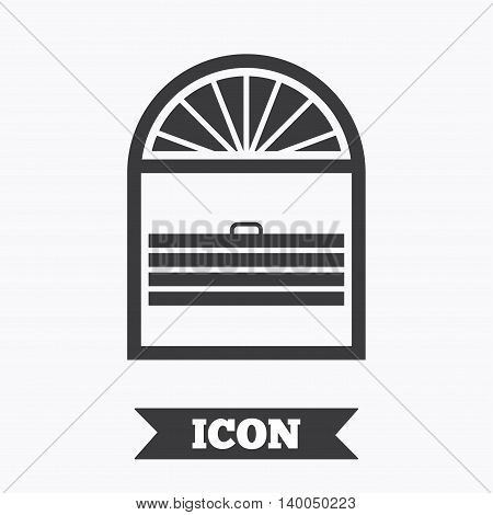 Louvers plisse sign icon. Window blinds or jalousie symbol. Graphic design element. Flat louvers plisse symbol on white background. Vector