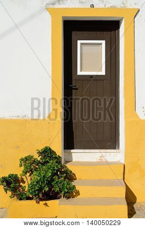 Doorand decorated wall in Algarve, South Portugal
