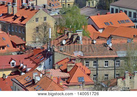 Bird s eye view of Vilnius, Lithuania