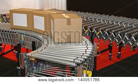 Powered Conveyor Rollers for Transfer Box in Factory
