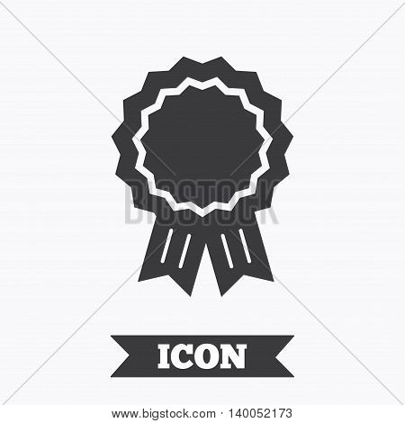 Award medal icon. Best guarantee symbol. Winner achievement sign. Graphic design element. Flat award symbol on white background. Vector