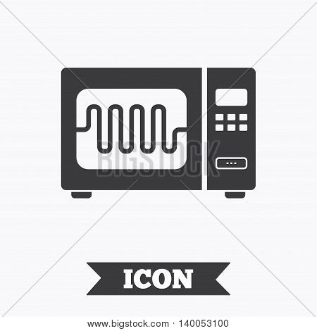 Microwave Oven Sign Icon. Kitchen Electric Stove Symbol. Graphic Design  Element. Flat Microwave Part 73