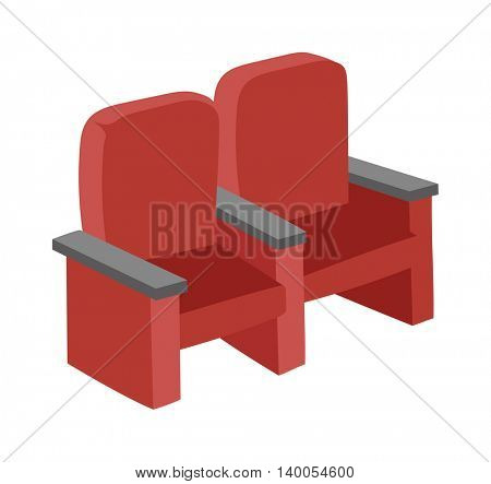 Cinema chairs vector illustration.