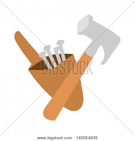 Hammer work tool vector