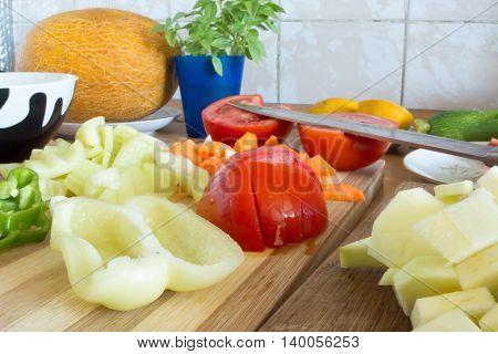 Kitchen Full Of Fresh Vegetables