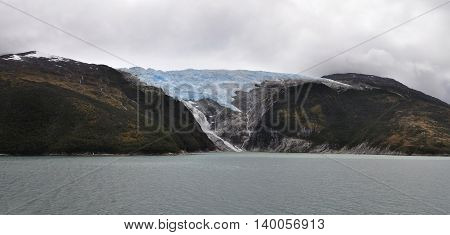View of Alemania Glacier, Beagle Channel, Patagonia, Chile.