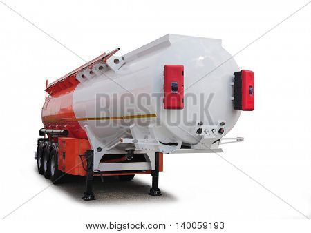 Tank car, isolated. For transportation of gas and petrol, oil products