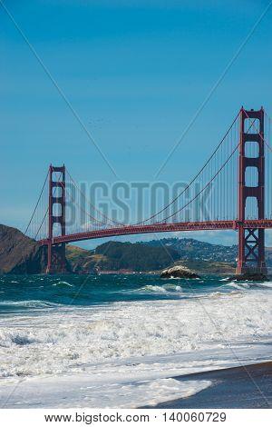 Golden Gate Bridge At Baker Beach