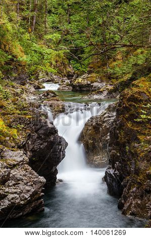Little Qualicum Falls On Vancouver Island, Canada