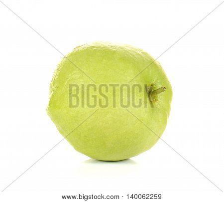 Fresh guava full ball isolated on white background.