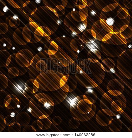 Abstract vector background with glowing bokeh effects. Vector illustration.