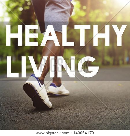 Healthy Life Living Nutrition Active Excercise Concept