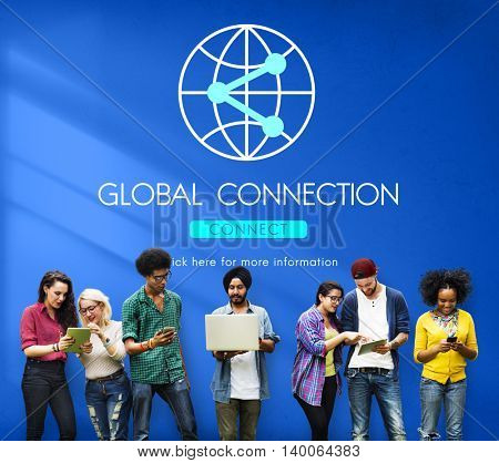 Connection Internet Communication Network Sharing Concept