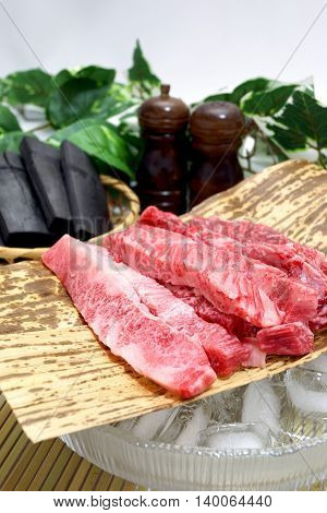 Name-brand luxury marbled beef of Japan production