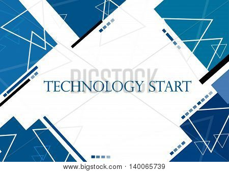 Vector illustration background in technology and modern design for text message presentation.