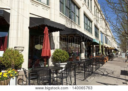 Dining and retail options abound in the Grove Arcade district of Asheville, North Carolina.