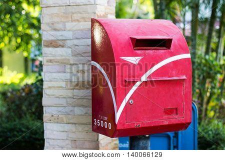 thai post box old, travel, vintage, outdoor,