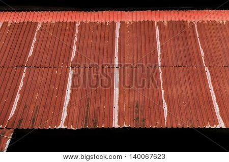 old rusty corrugated iron roof sheets background