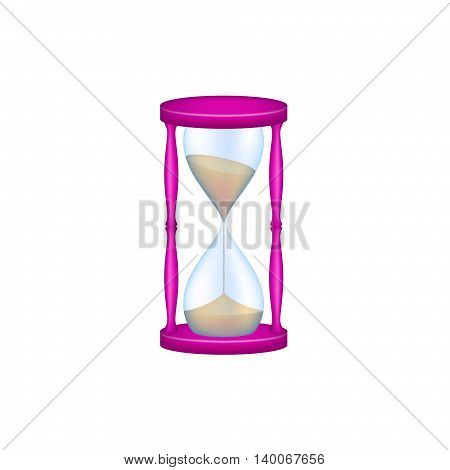 Sand glass in purple design and blue glass