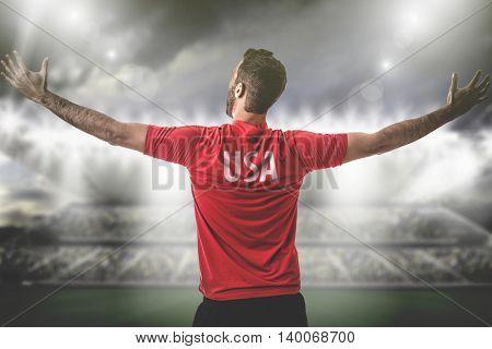 Athlete on USA uniform