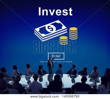 Invest Fund Banking Savings Business Concept