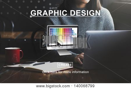 Creative Process Ideas Graphic Design Layout Concept
