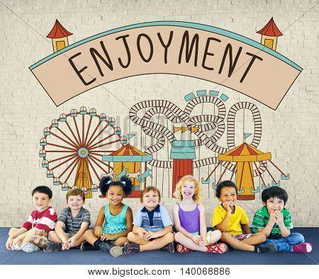Enjoyment Enjoy Life Apprciate Pleasure Like Love Concept