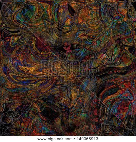 abstract motley , twisted shapes spotted dark background