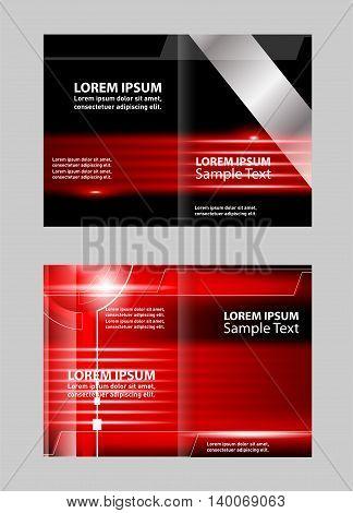 Professional bi fold business flyer template. Brochure design template vector abstract