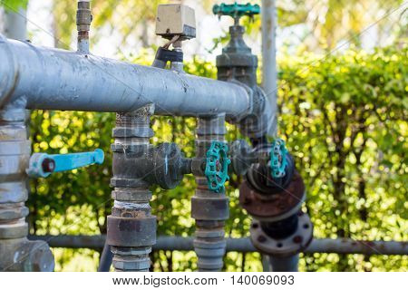 Turn off the water supply valve, splumbing,