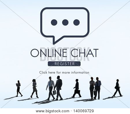 Online Chat Communication Conversation Message Concept