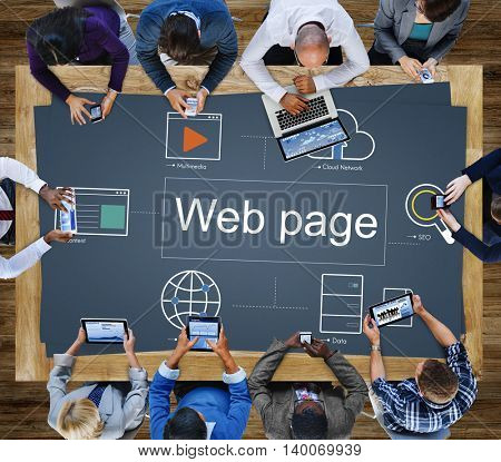 Web Page Webinar HTML Browser Concept