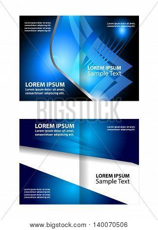 Corporate business brochure design. Bi-Fold Corporate Business Store Mock up & Brochure Design