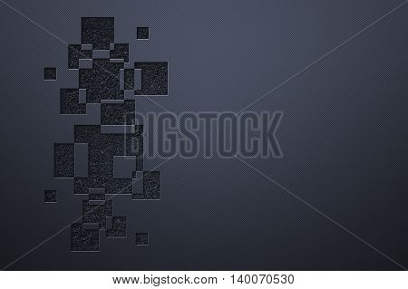 blue luxury metallic wall. metal background and texture. modern design for name card. 3d illustration.