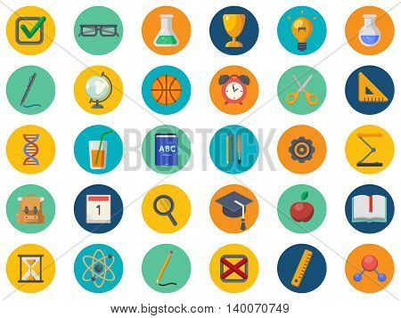 Back to school vector icon set. Concept icons of education and learning. Knowledge sign.