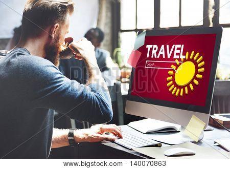 Travel Destination Start up Business People Concept