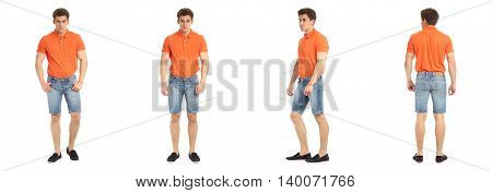Full Length Portrait Of A Fitness Man Isolated