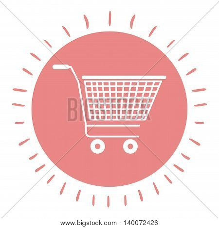 shopping cart isolated icon design, vector illustration  graphic