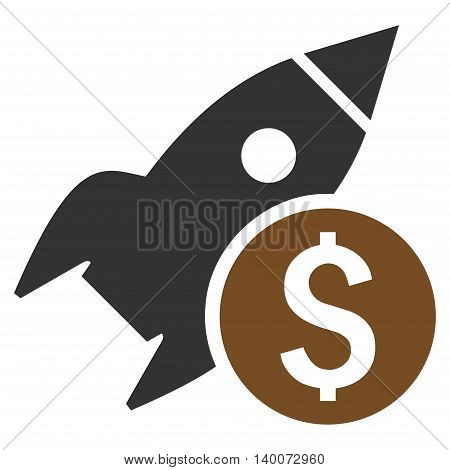 Business Startup vector icon. Style is flat symbol, brown color, white background.