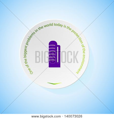Environmental icons depicting farm elevator with shadow, abstract vector illustration