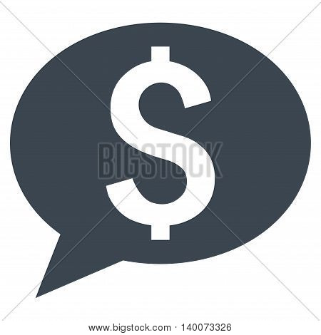 Bank Message vector icon. Style is flat symbol, smooth blue color, white background.