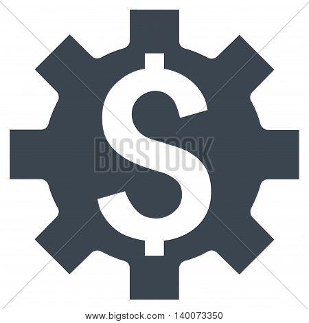 Dollar Options vector icon. Style is flat symbol, smooth blue color, white background.