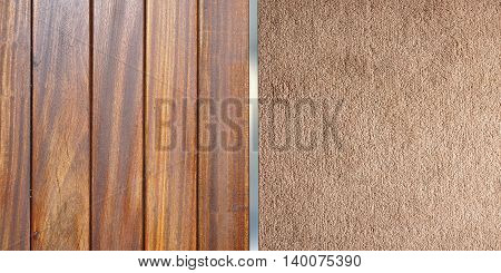 Timber floor and carpet interior design top view