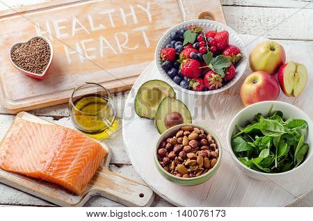 Best Foods For Your Heart. Healthy Diet.