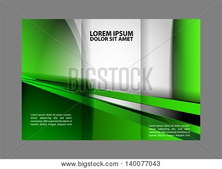 brochure design template. Tri-fold Brochure and Catalog Vector Design Template