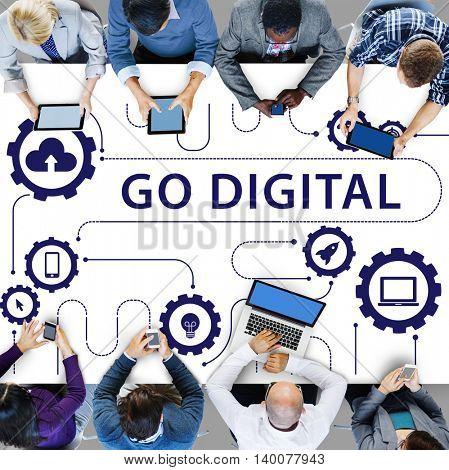 Social Media Sharing Online Exchange Concept