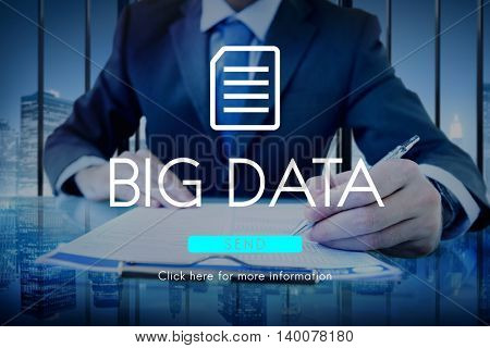 Big Data Storage Memory Cloud Database Digital Concept