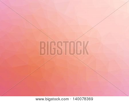 Abstract orange pink gradient polygon shaped background.